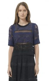 Patchwork Lace Top at Rebecca Taylor