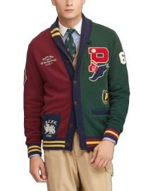 Patchwork Letterman Varsity Rugby Cardigan by Ralph Lauren at Ralph Lauren