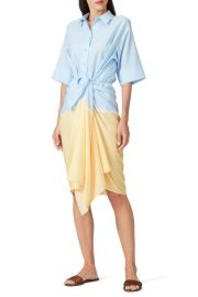 Patchwork Tie Dye Dress by Tome at Rent The Runway