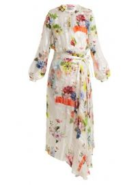 Patel floral-print silk wrap dress at Matches