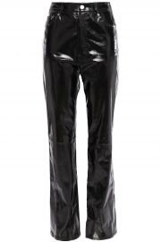 Patent-leather straight-leg pants at The Outnet