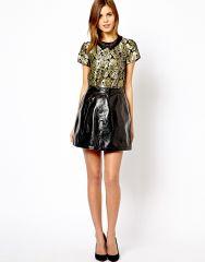 Patent skirt at Asos