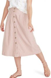 Patio Stripe Button Front Midi Skirt at Nordstrom Rack