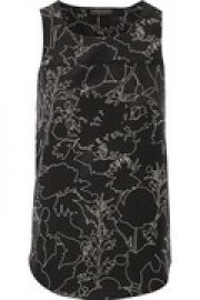 Patricia printed silk-crepe top at The Outnet