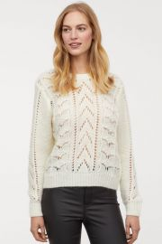 Pattern-knit Sweater at H&M