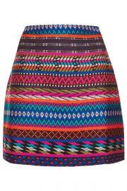 Patterned Blanket A-Line Skirt at Topshop