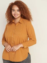 Patterned No-Peek Plus-Size Stretch Shirt at Old Navy