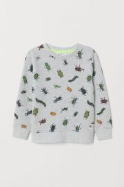 Patterned Sweatshirt at H&M
