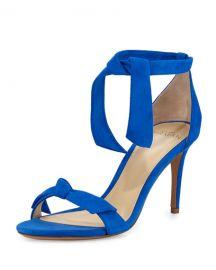 Patty Suede Bow-Tie dOrsay Sandal Topazio at Neiman Marcus
