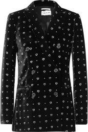 Paul   Joe - Double-breasted glittered velvet blazer at Net A Porter