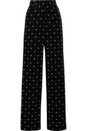 Paul   Joe - Glittered velvet straight-leg pants at Net A Porter