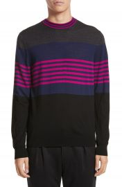 Paul Smith Stripe Merino Wool Crewneck Sweater at Nordstrom