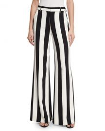 Paulette Striped Wide-Leg Pants by Alice  Olivia at Neiman Marcus