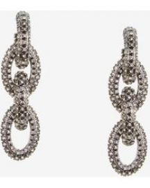 Pave Chain-Link Earrings at Bcbg