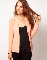 Peach blazer from ASOS at Asos