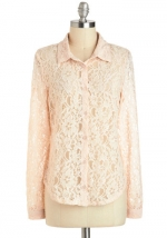 Peach lace blouse like Lemons at Modcloth
