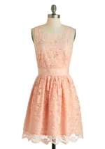 Peach lace dress at Modcloth
