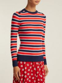 Peachskin striped cotton-blend sweater at Matches