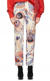 Peacock-Feather-Print Jeans at Barneys