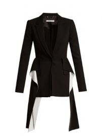 Peak-lapel single-breasted cady jacket at Matches