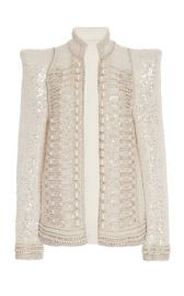 Pearl Embroidered Sequin Jacket at Moda Operandi