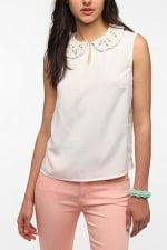 Pearl collar tank top from Urban Outfitters at Urban Outfitters