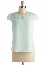 Pearl collar top at Modcloth