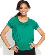 Peasant knit top by INC at Macys