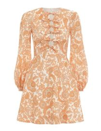 Peggy Scalloped Mini Dress by Zimmermann at Zimmermann