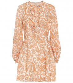 Peggy printed linen minidress at Mytheresa