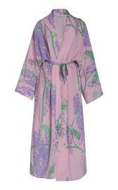 Peignoir Silk Crepe De Chine Kimono Dress at Moda Operandi