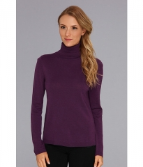 Pendleton Classic Turtleneck Sweater Deep Purple at 6pm