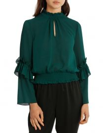 Penelope High Neck Shirred Top at Myer