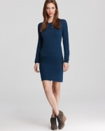Pennys blue cashmere dress at Bloomingdales