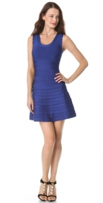 Pennys blue dress by Herve Leger at Shopbop
