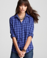 Blue gingham shirt by Splendid at Bloomingdales