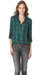 Pennys green plaid top at Shopbhop at Shopbop