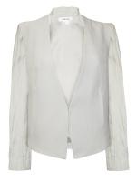Penny's grey blazer at Glassworks