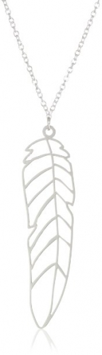 Penny's silver feather necklace at Amazon