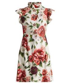 Peony-Print Ruffle-Trimmed Dress by Dolce & Gabbana at Matches