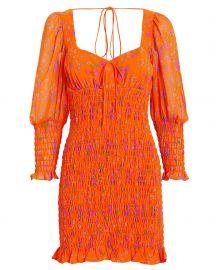 Peony Smocked Dress at Intermix