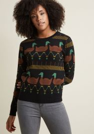 Pepaloves Ducks Sweater at ModCloth