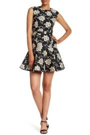 Peplum Hem Floral Embroidered Dress by Ted Baker at Nordstrom Rack