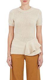 Peplum Wool-Blend Short-Sleeve Sweater at Barneys