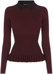 Peplum knit sweater at Karen Millen