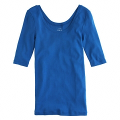 Perfect Fit Ballet Button Tee at J. Crew
