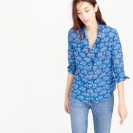 Perfect shirt in vintage scarf print at J. Crew