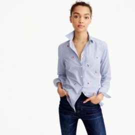 Perfect shirt with bee embellishment at J. Crew