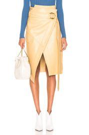 Petar Petrov Leather Rita Skirt in Mustard   FWRD at Forward