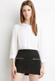 Peter Pan Collar Top  Forever 21 - 2000140804 at Forever 21